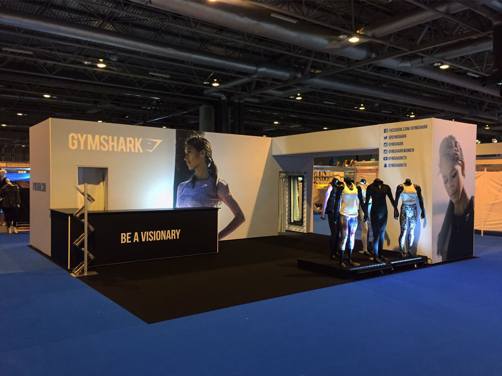 Bodypower Expo Stands : Gymshark clothes show exhibition stand form events