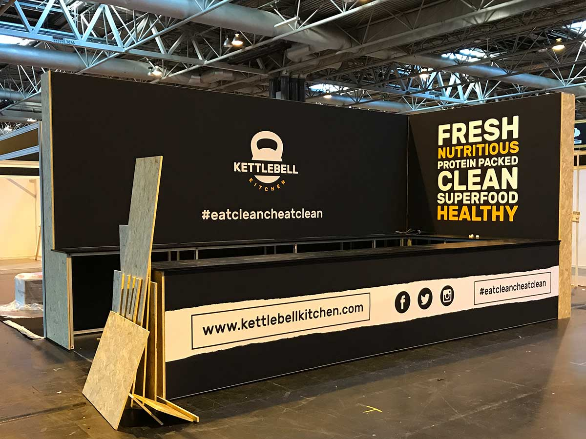 Bodypower Expo Stands : Kettlebell kitchen exhibition stand form events