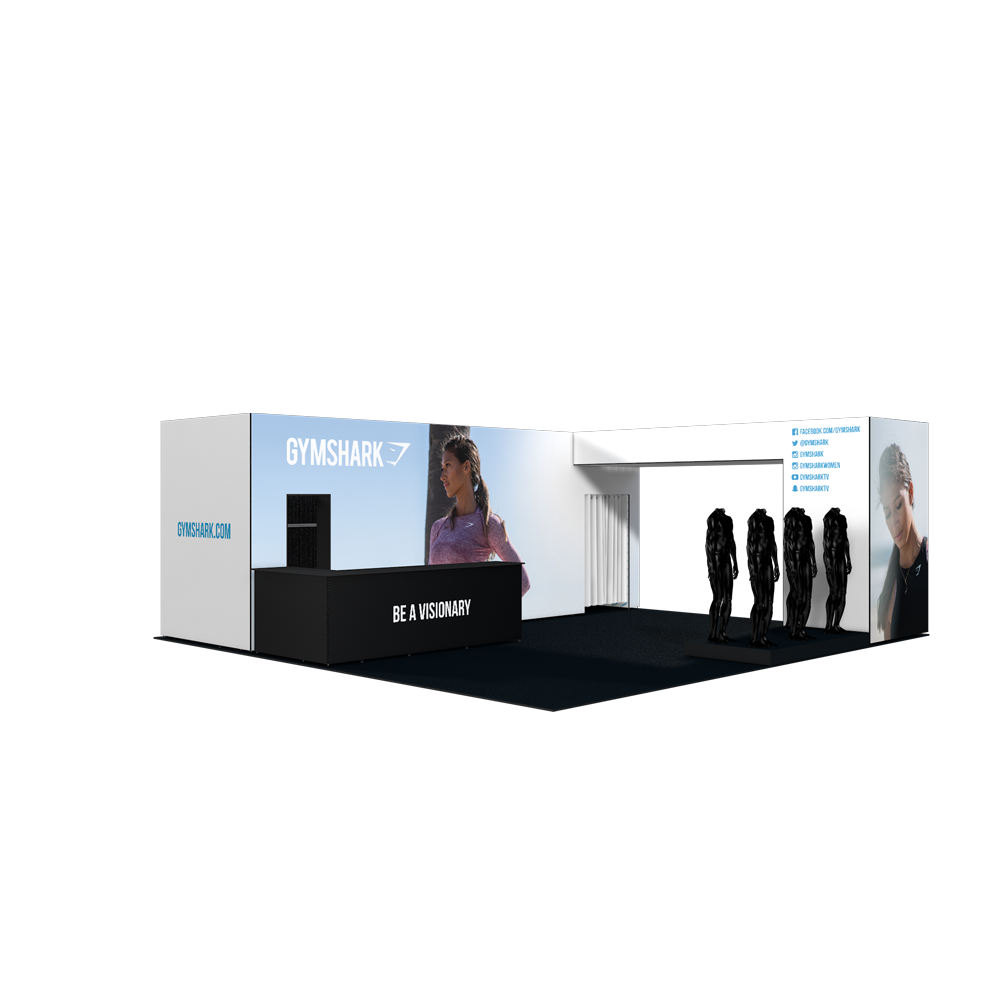 Exhibition Stand Clothes : Gymshark clothes show exhibition stand form events